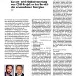 Kurrat, Wiedenhoff 2009 - Kosteneffizienz von Beteiligungen an CDM-Projekten - ew