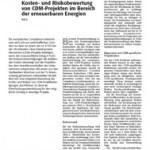 Kurrat, Wiedenhoff, Heck 2009 - Risikobewertung von Beteiligungen an CDM Projekten - ew