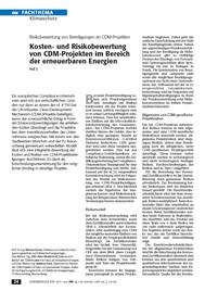 Risikobewertung von Beteiligungen an CDM-Projekten